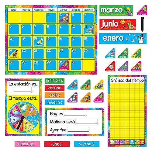 TREND enterprises, Inc. T-8097BN Calendario Anual (Spanish) Bulletin Board Set, Pack of 2 Sets