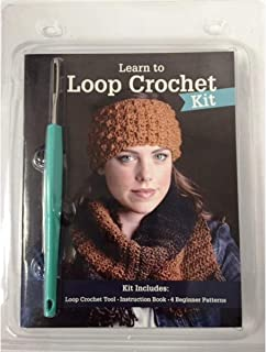 Learn to Loop Crochet Kit | Create Knit Stitches with One Tool - Includes Step by Step Instructions and 4 Beginner Pattern...