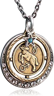 Sweet Romance Zodiac Sign Astrology Horoscope Pendant Necklace Birthday Gift - All 12 Sun Signs Available