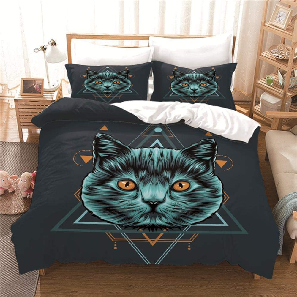 WDMXNZ Bedding for Girls Boys 100% quality warranty! Cute Set fo Baltimore Mall Black Quilt GreyCat