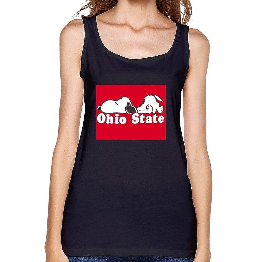 Women's Ohio State Buckeyes & Snoopy Funny Pattern 1 Vest Tank