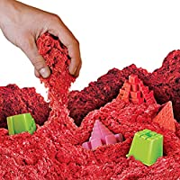 NATIONAL GEOGRAPHIC Play Sand - 12 LBS of Sand with Castle Molds (Red) - A Kinetic Sensory Activity