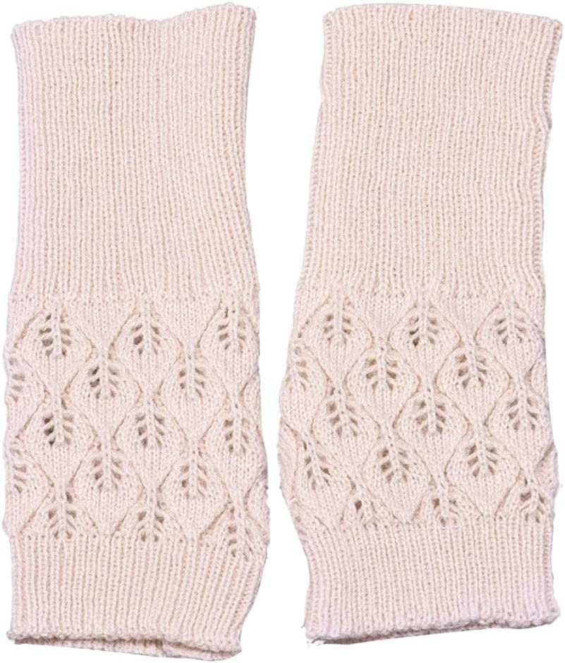 GHCXY Gloves,1 Pair Winter Female Fingerless Knitted Fingers Solid Women Warm Winter Hand Wrist Warmer Mittens,E