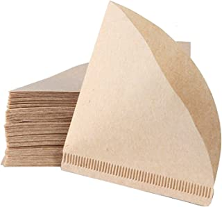Tomodoks Lot de 80 filtres à café en papier jetables non blanchis en forme de V Taille 2 pour V60