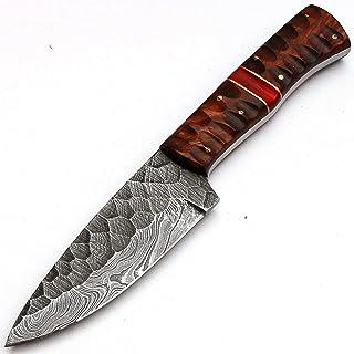 PAL 2000 - Cuchillos de cocina de acero Damasco de Damasco de 4 pulgadas aprox. Cuchillo de chef de acero de Damasco – el mejor cuchillo de cocina hecho a mano con vaina, comprar con confianza 8670
