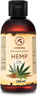 Hemp Oil 250ml - Cannabis Sativa Seed Oil - 100% Natural & Pure Cold Pressed Carrier Oil - Used for Skin Care - Haircare -...