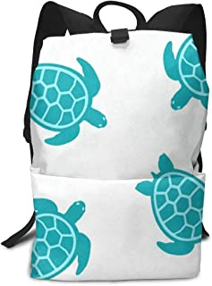 Backpack Turtle Turquoise Amazing Shoulders Bag Classic Lightweight Daypack for Adults