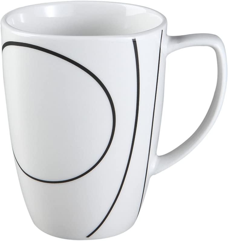 Simple Lines 12 Oz Mug Set Of 4