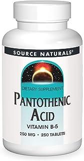 Source Naturals - Pantothenic Acid Vitamin B5 250 Mg. Tablets 143360