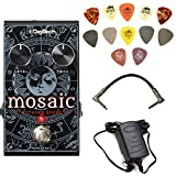 Digitech MOSAIC 12-String Effect Pedal Bundle with 9V Power Supply, Patch Cable, and Dunlop PVP101 Pick Pack