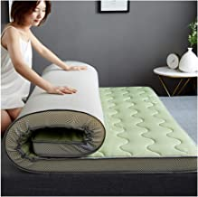 Tatami Mattress, Student Dormitory Single/Double Mattress, Floor mat,Soft and Comfortable, Universal for All Seasons,Green