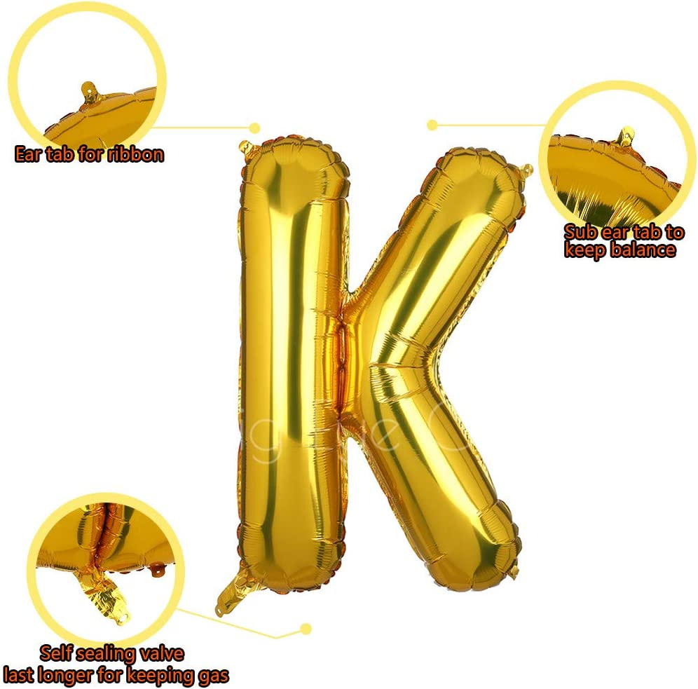 Gold S 40 Inch Giant Gold Letter S Foil Helium Balloons Big Single Mylar Balloon Birthday Party Decoration Supply Baby Shower