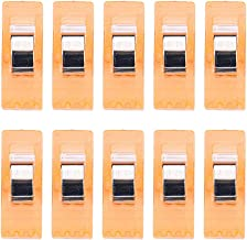 Shisay Multipurpose Sewing Clips - Quilting Supplies Pack of 10 Sewing Clips Assorted Colors Plastic Clips Clamps Wonder Clips for Home Workshop Quilting Crafting (Orange)