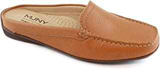 Sponsored Ad - MARC JOSEPH NEW YORK Womens Casual Genuine Leather Flat Mules Sandals Closed Toe Backless Comfortable Light...