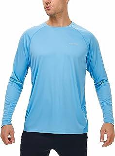 Valano Men's Long Sleeve Shirts UPF 50+ Sun Protection SPF Lightweight T-Shirts Outdoor Hiking Running Fishing