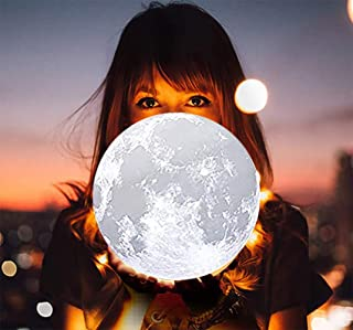 Moon Lamp Large 7inch, 8Inch,9Inch,10in,11in and 12in Moon Light Ball for Bedroom,Luna Lamp with16 Colors LED.
