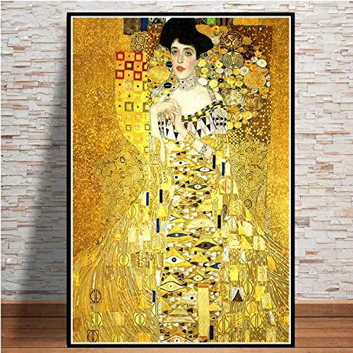 Gustav Klimt gouden tranen en kus canvas schilderij affiches en prints muurkunst afbeelding vintage poster decoratieve wooncultuur 60x75cm