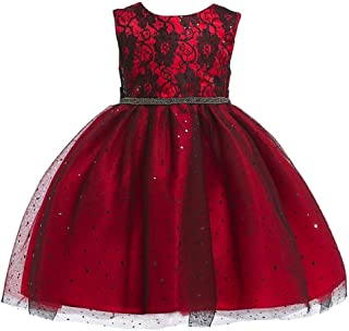 Minisoya Children Kids Baby Girls Bowknot Flower Lace Princess Ball Gown Pageant Party Wedding Bridesmaid Formal Dress