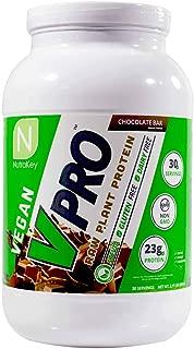 NutraKey V-Pro, Raw Plant Based Protein Powder with 23g of Protein, (Chocolate) 2-Pound