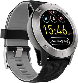 WUHUAROU Reloj Inteligente al Aire Libre Profesional del perseguidor de la Aptitud de la Prenda Impermeable del Ritmo cardíaco de los Relojes Inteligentes (Color : Gray)
