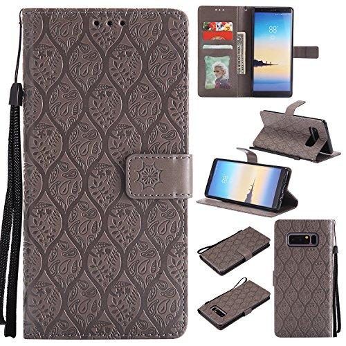 LARPOTE Coque pour Samsung A51 /Étui en Cuir Flip Wallet Magnetic Surface du Miroir Motif Fermeture Protector Slot pour Samsung A51 D/égrad/é de Couleur
