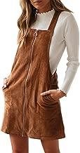 Best pocket front zip up back corduroy pinafore dress Reviews