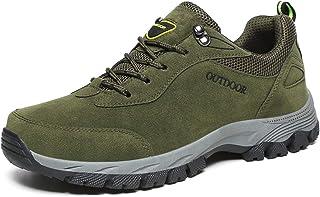 JIANKE Mens Hiking Shoes Outdoor Walking Shoes Breathable Anti Slip Trekking Trainers