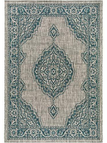 Benuta In- & Outdoor-Teppich Cleo Blau 120x170 cm - Outdoor-Teppich für Balkon & Garten, 4053894811296
