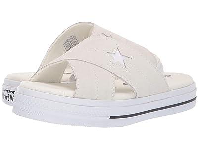 Converse One Star Sandal Slip (Egret/Egret/White) Women