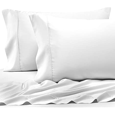 Amazon Com Pizuna 400 Thread Count Cotton Queen Pillowcases 100 Long Staple Cotton Pillow Cases Standard Size Set Of 2 Colling Pillow Cases With Stylish 4 Inch Hem 100 Cotton Pillow Cover Kitchen Dining