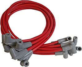 MSD 35599 Red 8.5mm Super Conductor Spark Red Plug Wire Set 8.5 Millimeter