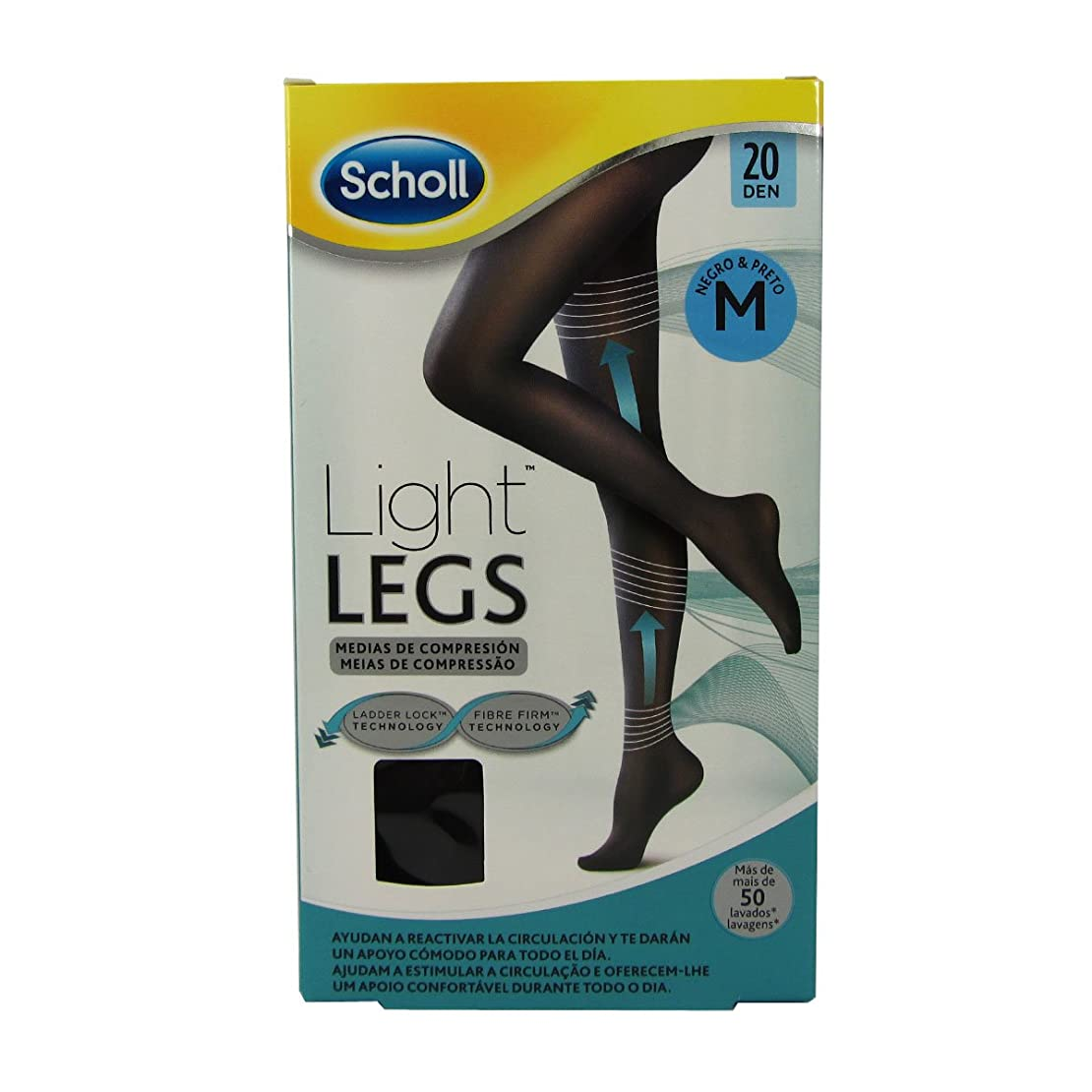 く観光昨日Scholl Light Legs Compression Tights 20den Black Medium [並行輸入品]
