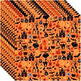 25 Stück Halloween Stoff Geist Kürbis Katzen Muster Stoff
