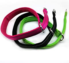 Mycicy Reflective Dog Choke Collar, Soft Nylon Training Slip Collar for Dogs