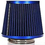 Yubingqin Kit de inducción del Filtro de la admisión de Aire del Coche Universal Alto Power Sports de Malla Cono Azul