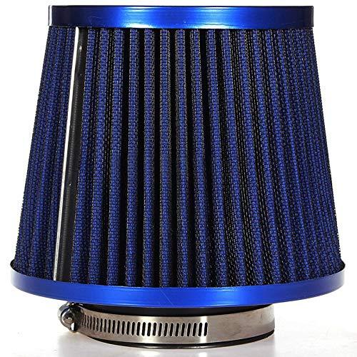 OLDJTK Universal del Coche del Aire de admisión del Filtro Kit de la inducción de Alta Potencia de Deportes de Malla Cono Azul
