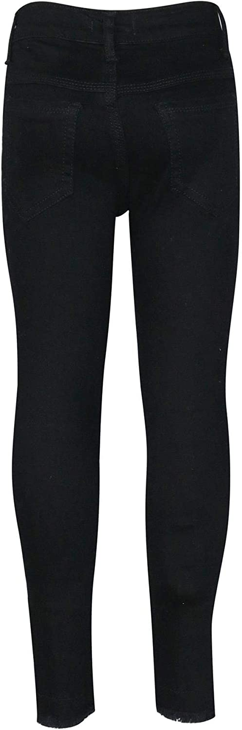 A2Z 4 Kids Kids Girls Stretchy Jeans Designers Rose Embroidered Jet Black Denim Pants Fashion Fit Trousers Jeggings New Age 3 4 5 6 7 8 9 10 11 12 Years