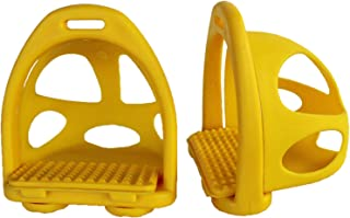 CHALLENGER Horse Saddle English Composite Safety Removeable Cage Endurance Stirrups 51166YL