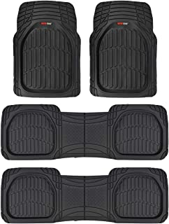 Best Motor Trend MT-923-920 FlexTough Contour Liners-Deep Dish Heavy Duty Rubber Floor Mats for 3 Row Car SUV Truck & Van-All Weather Protection (Black) Review
