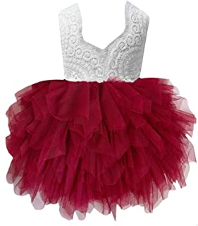 d7ce081ea 2Bunnies Girl Beaded Peony Lace Back A-Line Tiered Tutu Tulle Flower Girl  Dress