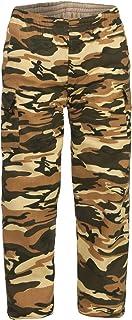 ZARMEXX Pantalones de camuflaje térmicos para niños, pantalones de camuflaje para el tiempo libre, forrados militares, pan...
