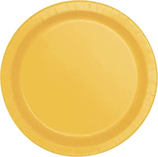 Creative Converting Party Paper Dinner Plates 8-Pieces, 9-Inch Diameter, Yellow