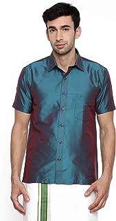 Chennis Green Short Sleeve Regular Fit Shirt