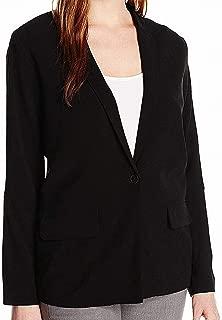 Lark & Ro Women's Soft Blazer Galaxy Black Large L Single Button