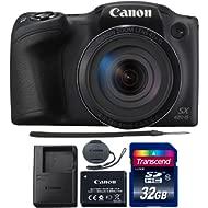 Canon PowerShot SX420 is 20.0MP Digital Camera (Black) + 32GB Memory Card