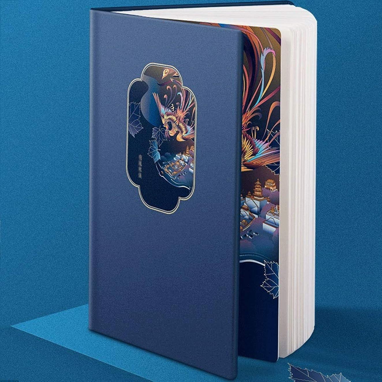 A5ノートブックレトロハードカバーライティングジャーナルレザーカバーページセパレーターメモ帳 Blingstars (Color : A)