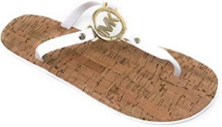 MK Charm Jelly Flip Flop Cork Bottom