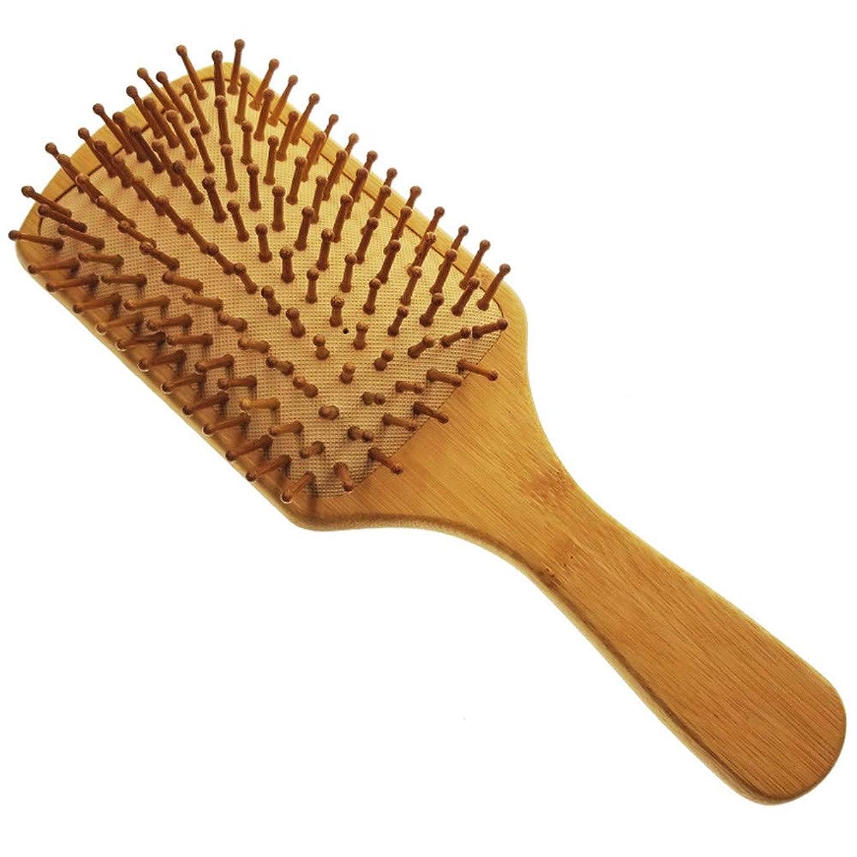 Butokal ヘアブラシ 天然木製櫛 頭皮マッサージ コーム 美髪ケア クッションブラシ 血行促進 薄毛改善 パドルブラシ