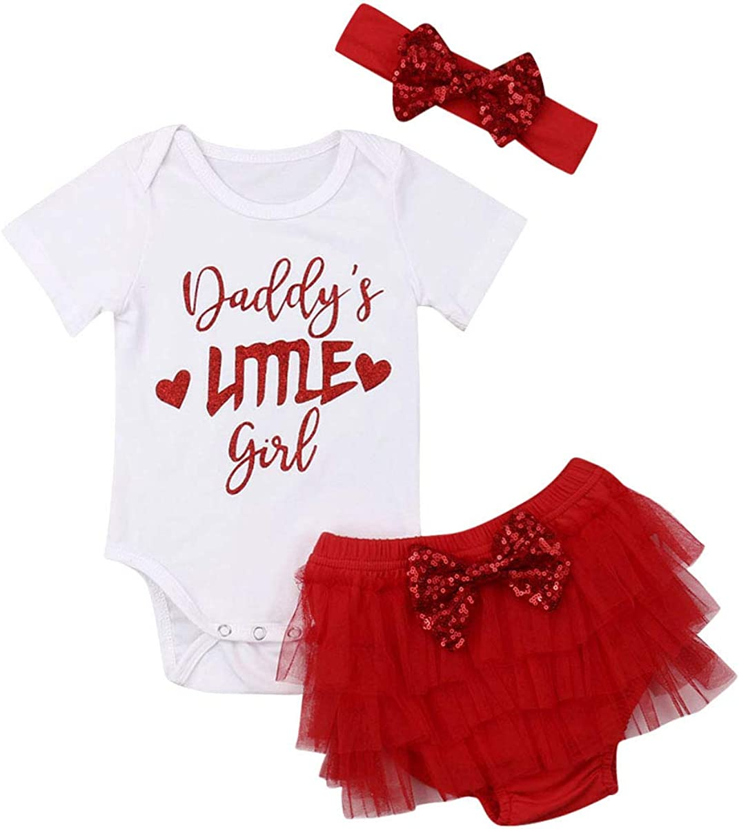 Infant Baby Girls Ruffle Shorts Outfit Summer Romper Bodysuit Tops /& Bottoms Shorts Cute Clothes Sets