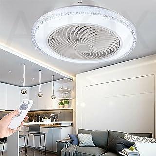 Ventilateur De Plafond Avec Éclairage LED Plafonnier Cristal Invisible Ventilateur De Plafond Ultra-Silencieux Fan Plafond...
